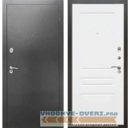 Входная металлическая дверь Рекс 2А Серебро антик ФЛ 243 Силк сноу