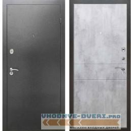 Входная металлическая дверь Рекс 2А Серебро антик ФЛ 290 Бетон светлый