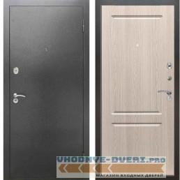 Входная металлическая дверь Рекс 2А Серебро антик ФЛ 117 Беленый дуб