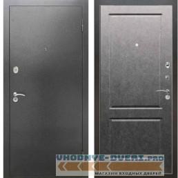 Входная металлическая дверь Рекс 2А Серебро антик ФЛ 117 Штукатурка графит