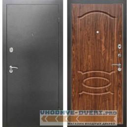 Входная металлическая дверь Рекс 2А Серебро антик ФЛ 128 Орех тисненый