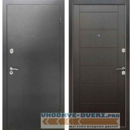 Входная металлическая дверь Рекс 2А Серебро антик Сити Венге