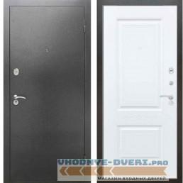 Входная металлическая дверь Рекс 2А Серебро антик Смальта 04 Силк сноу