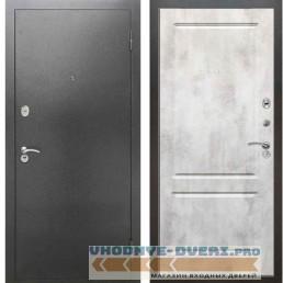 Входная металлическая дверь Рекс 2А Серебро антик ФЛ 117 Бетон светлый