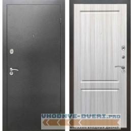 Входная металлическая дверь Рекс 2А Серебро антик ФЛ 117 Сандал белый