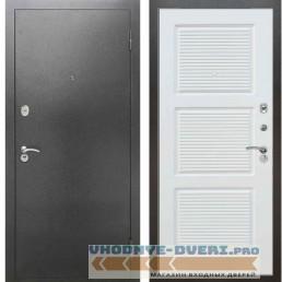 Входная металлическая дверь Рекс 2А Серебро антик ФЛ 117 Силк сноу