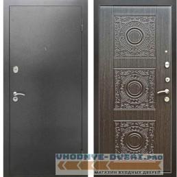 Входная металлическая дверь Рекс 2А Серебро антик Д 18 Венге