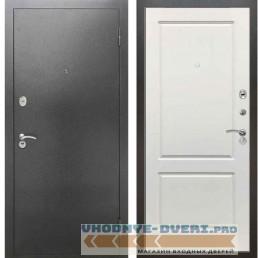 Входная металлическая дверь Рекс 2А Серебро антик ФЛ 1 Силк сноу