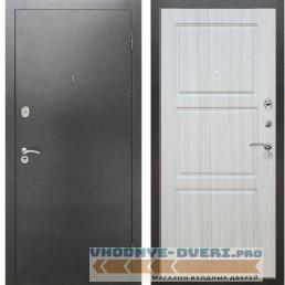 Входная металлическая дверь Рекс 2А Серебро антик ФЛ 3 Сандал белый