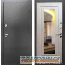 Входная металлическая дверь Рекс 2А Серебро антик ФЛЗ 120 Беленый дуб