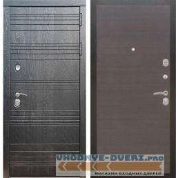 Входная дверь Рекс 14 Роял вуд черный Гладкая Венге поперечный