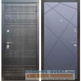 Входная дверь Рекс 14 Роял вуд черный ФЛ-291 Силк титан