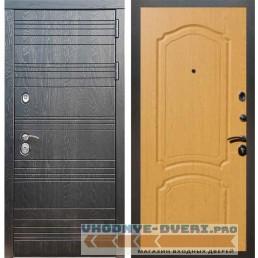 Входная дверь Рекс 14 Роял вуд черный ФЛ-140 Дуб