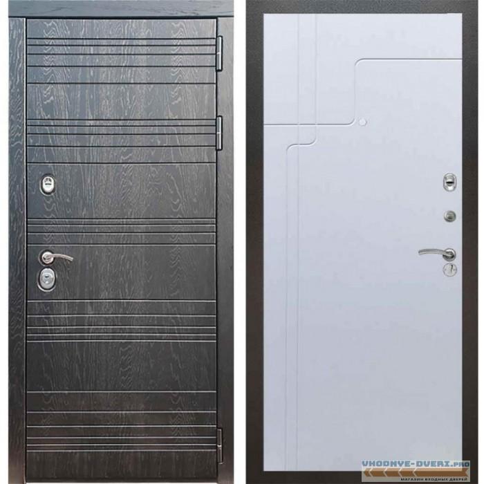 Входная дверь Рекс 14 Роял вуд черный ФЛ-246 Белый ясень