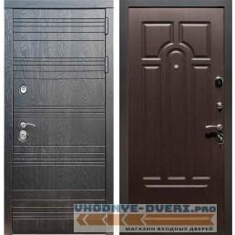 Входная дверь Рекс 14 Роял вуд черный ФЛ-58 Венге