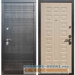 Входная дверь Рекс 14 Роял вуд черный ФЛ-183 Беленый дуб