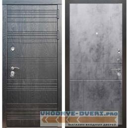 Входная дверь Рекс 14 Роял вуд черный ФЛ-290 Бетон темный
