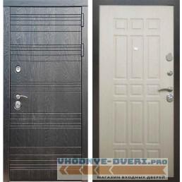 Входная дверь Рекс 14 Роял вуд черный ФЛ-33 Беленый дуб