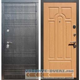 Входная дверь Рекс 14 Роял вуд черный ФЛ-58 Дуб