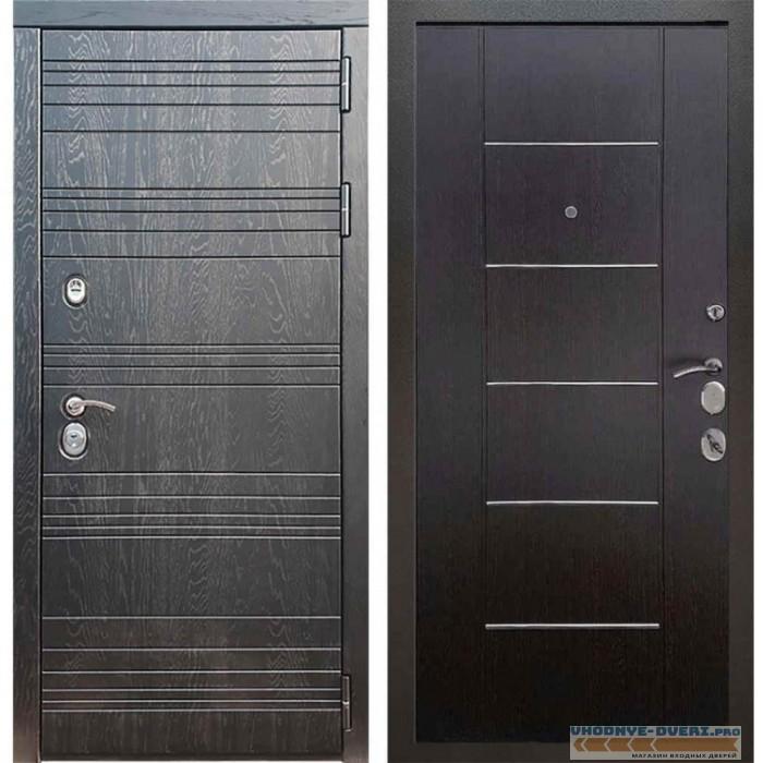 Входная дверь Рекс 14 Роял вуд черный B 03 Молдинг Венге