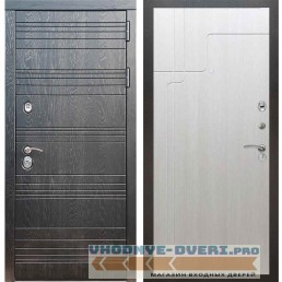 Входная дверь Рекс 14 Роял вуд черный ФЛ-246 Лиственница бежевая