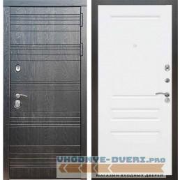 Входная дверь Рекс 14 Роял вуд черный ФЛ-243 Силк сноу