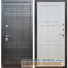 Входная дверь Рекс 14 Роял вуд черный ФЛ-3 Сандал белый