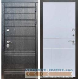 Входная дверь Рекс 14 Роял вуд черный ФЛ-290 Силк сноу