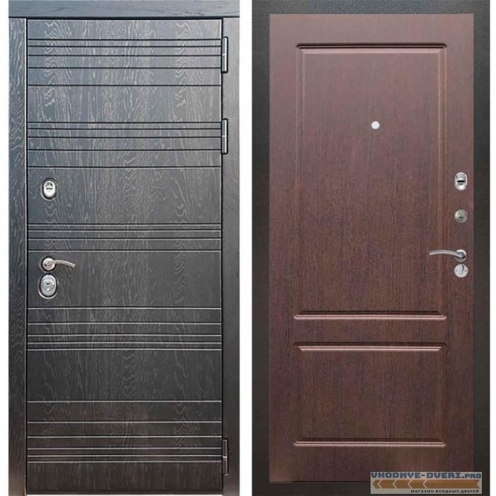 Входная дверь Рекс 14 Роял вуд черный ФЛ-117 Орех премиум