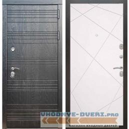 Входная дверь Рекс 14 Роял вуд черный ФЛ-291 Силк сноу