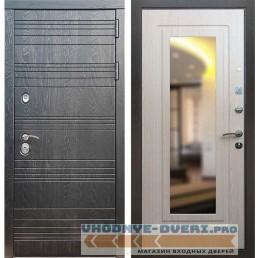 Входная дверь Рекс 14 Роял вуд черный ФЛЗ 120 Беленый дуб