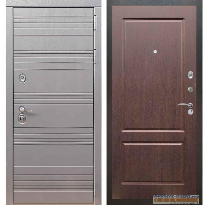 Входная дверь Рекс 14 Роял вуд графит ФЛ-117 Орех премиум