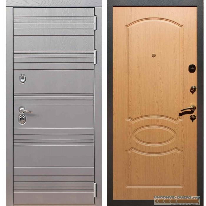 Входная дверь Рекс 14 Роял вуд графит ФЛ-128 Дуб