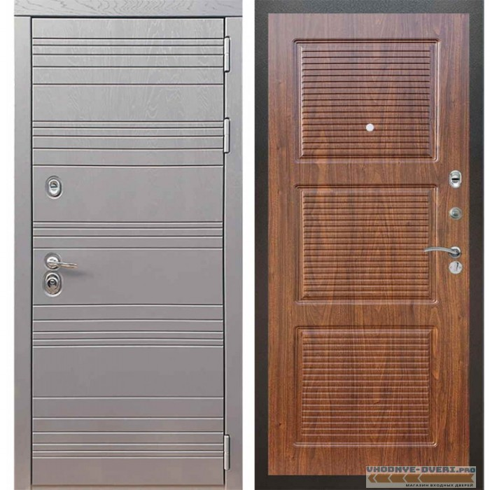 Входная дверь Рекс 14 Роял вуд графит ФЛ-1 Береза мореная