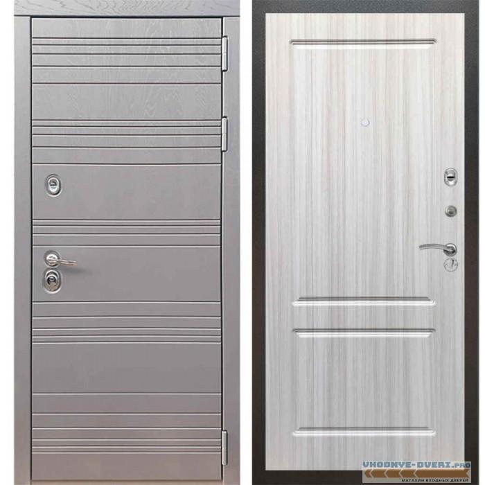 Входная дверь Рекс 14 Роял вуд графит ФЛ-117 Сандал белый