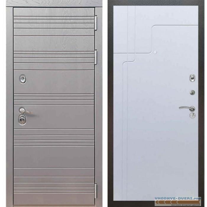 Входная дверь Рекс 14 Роял вуд графит ФЛ-246 Белый ясень