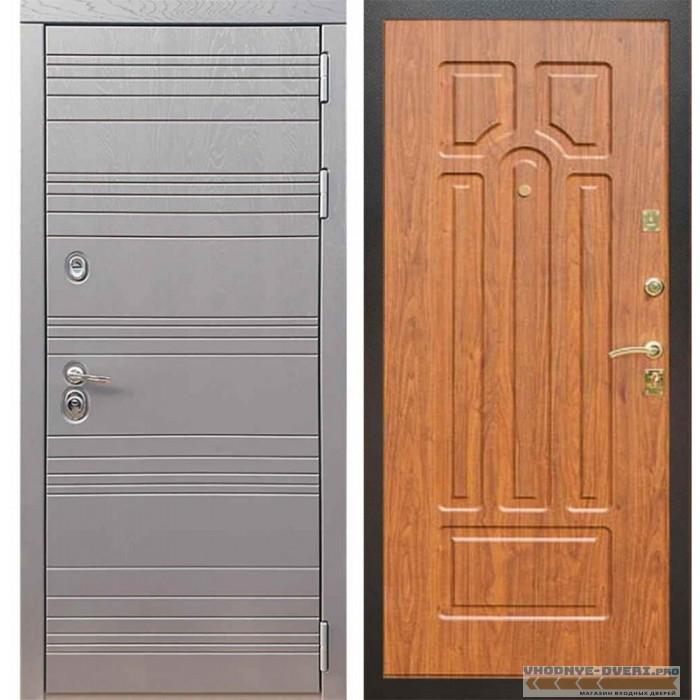 Входная дверь Рекс 14 Роял вуд графит ФЛ-58 Береза мореная