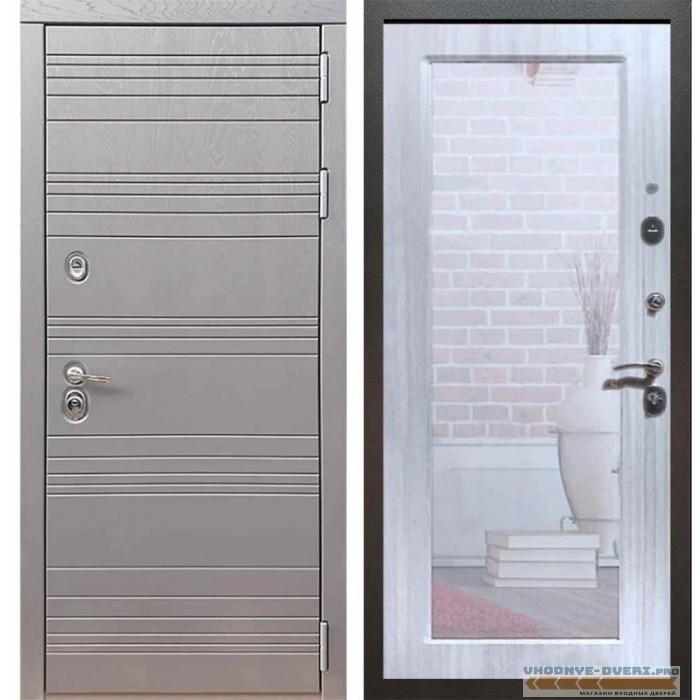 Входная дверь Рекс 14 Роял вуд графит Пастораль Сандал белый