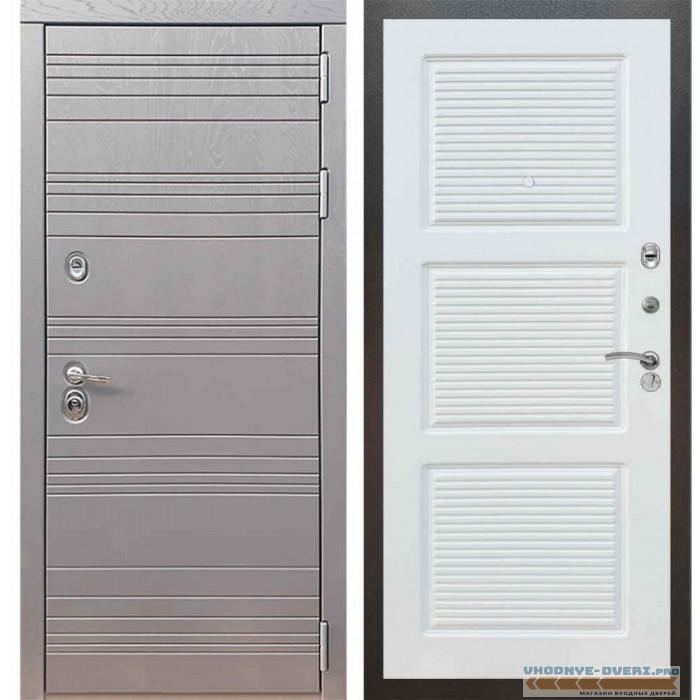 Входная дверь Рекс 14 Роял вуд графит ФЛ-1 Силк сноу