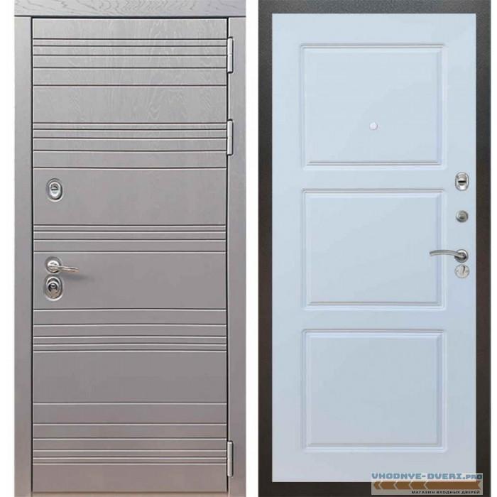 Входная дверь Рекс 14 Роял вуд графит ФЛ-3 Силк сноу