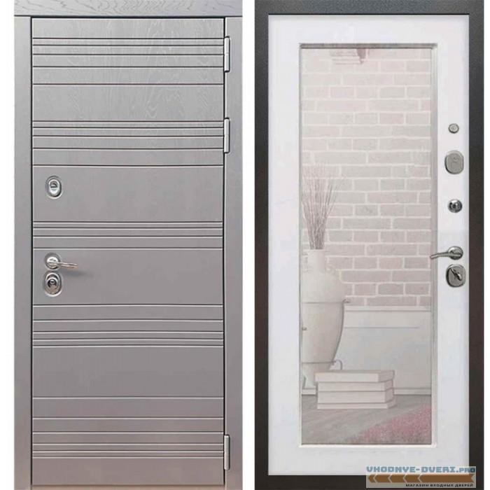 Входная дверь Рекс 14 Роял вуд графит Пастораль Силк сноу