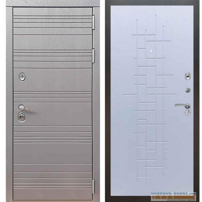 Входная дверь Рекс 14 Роял вуд графит ФЛ-289 Белый ясень