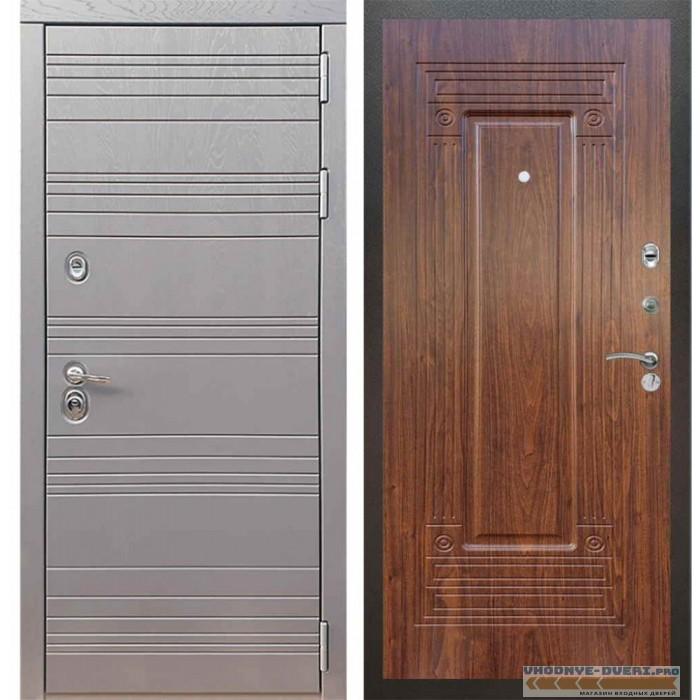 Входная дверь Рекс 14 Роял вуд графит ФЛ-4 Береза мореная