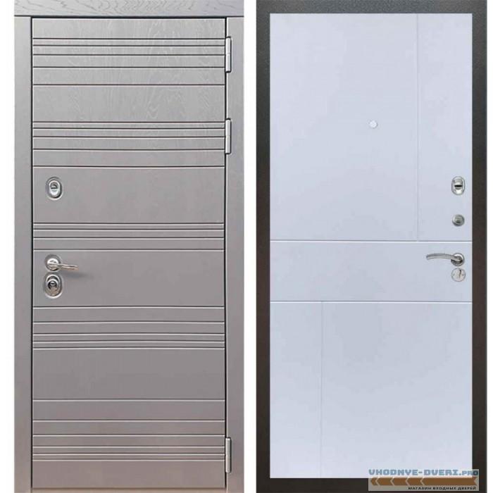 Входная дверь Рекс 14 Роял вуд графит ФЛ-290 Силк сноу