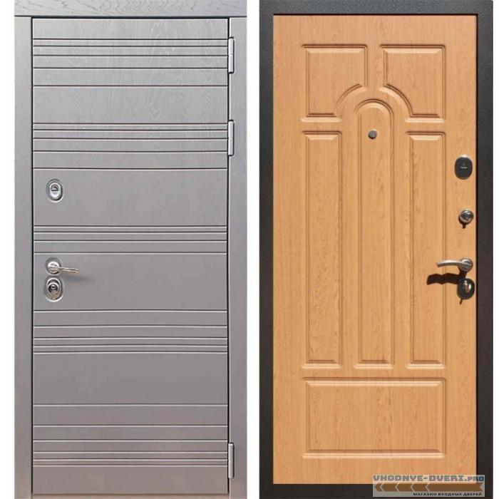 Входная дверь Рекс 14 Роял вуд графит ФЛ-58 Дуб