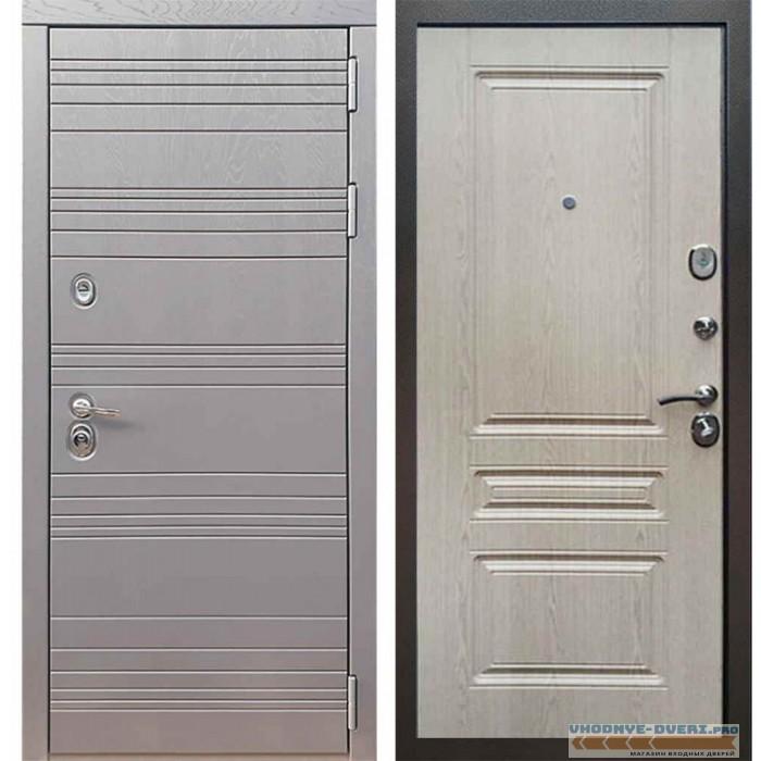 Входная дверь Рекс 14 Роял вуд графит ФЛ-243 Беленый дуб