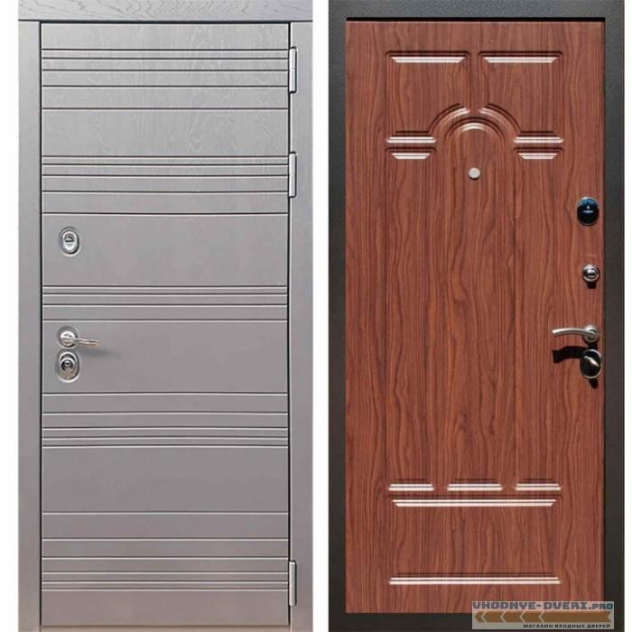 Входная дверь Рекс 14 Роял вуд графит ФЛ-58 Орех тисненый