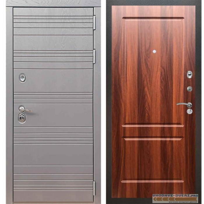 Входная дверь Рекс 14 Роял вуд графит ФЛ-117 Орех итальянский