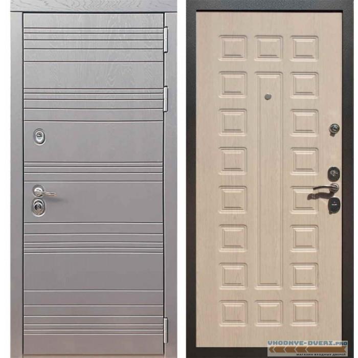 Входная дверь Рекс 14 Роял вуд графит ФЛ-183 Беленый дуб