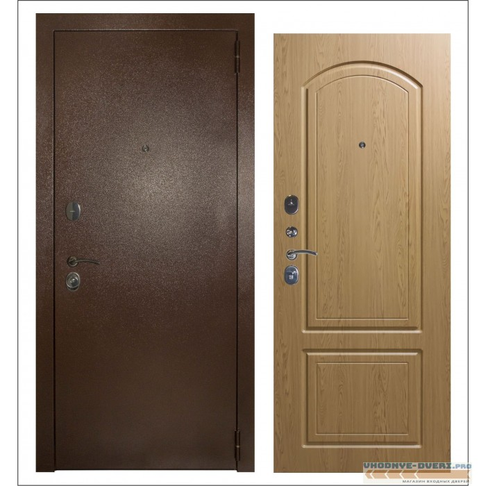 Заводские двери Эталон Дуб Темный